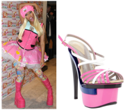 Please don't take style advice from Nicki Manaj..she also wore these Versace Platform Sandals.